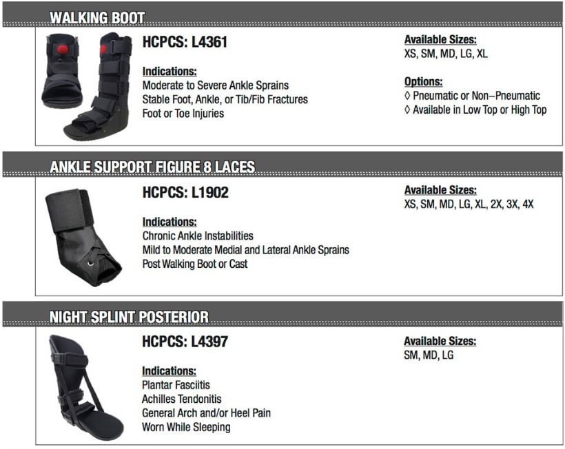 Walking boot, Ankle Support Figure 8 Laces, Night Splint Posterior